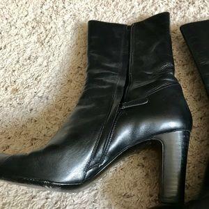 Cole Haan Black High Heeled Booties (Size 10)
